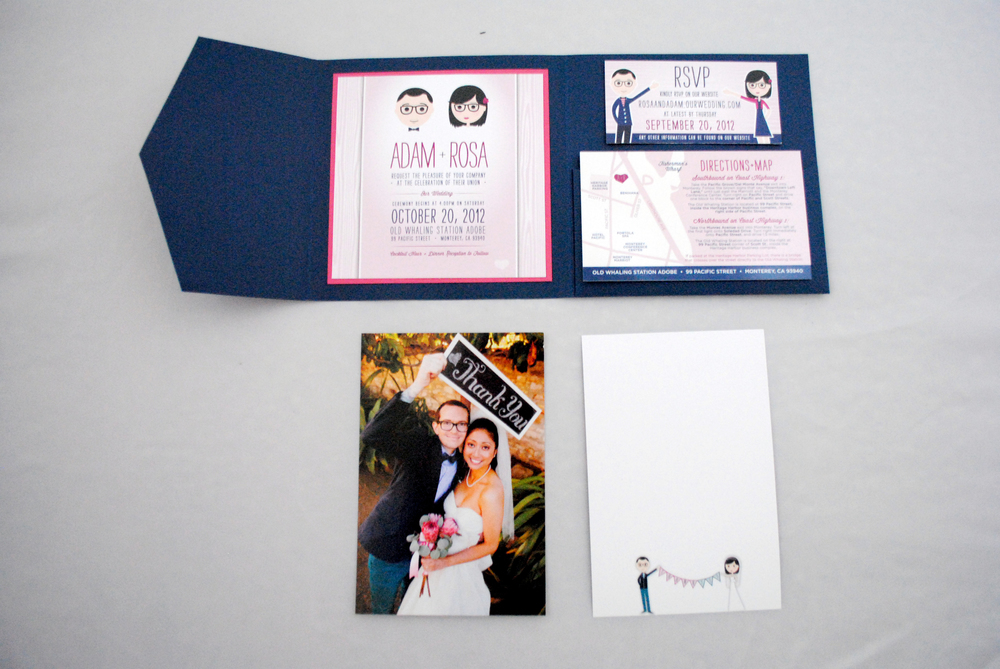 Rosa + Adam's Wedding Invitation Suite
