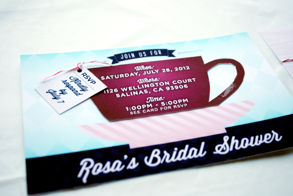 Rosa's Bridal Shower Invitation