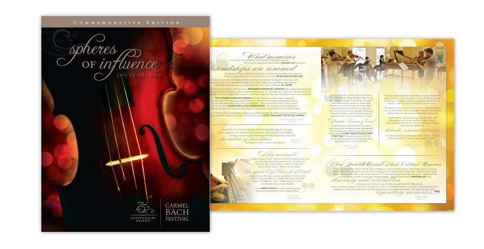 75th Bach Festival Brochure