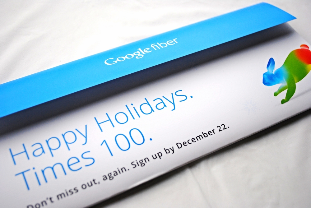 Google Fiber Holiday Direct Mail Campaign