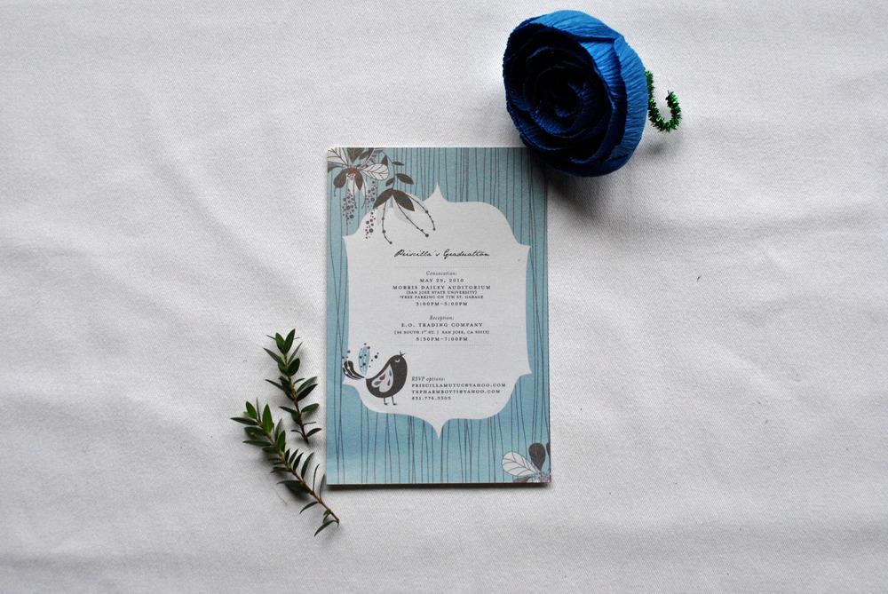 Priscilla Graduation Invitation