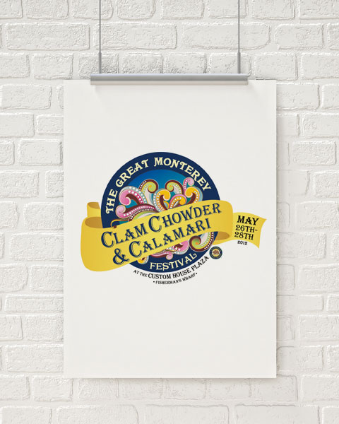 The Great Monterey Clam Chowder and Calamari Festival Logo