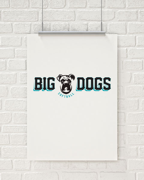 Big Dogs Softball Logo