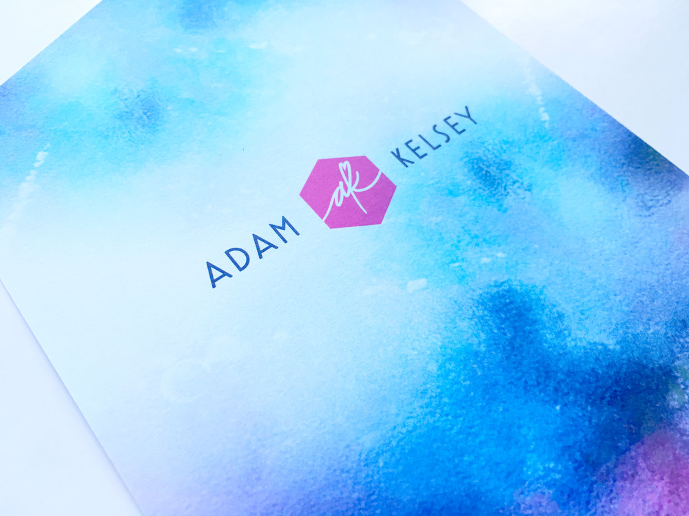 Kelsey and Adam Whimsical Wedding Invite Emblem
