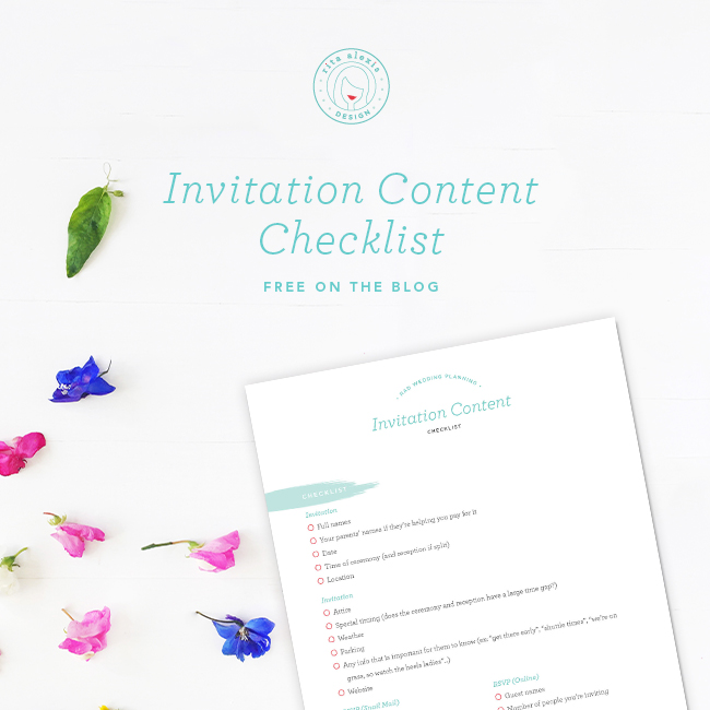 what to include in your wedding invitation suite a free cheatsheet