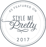 Featured in Style Me Pretty for the beautiful Kelsey and Adam's whimsical wedding suite! Check out the blog  here !