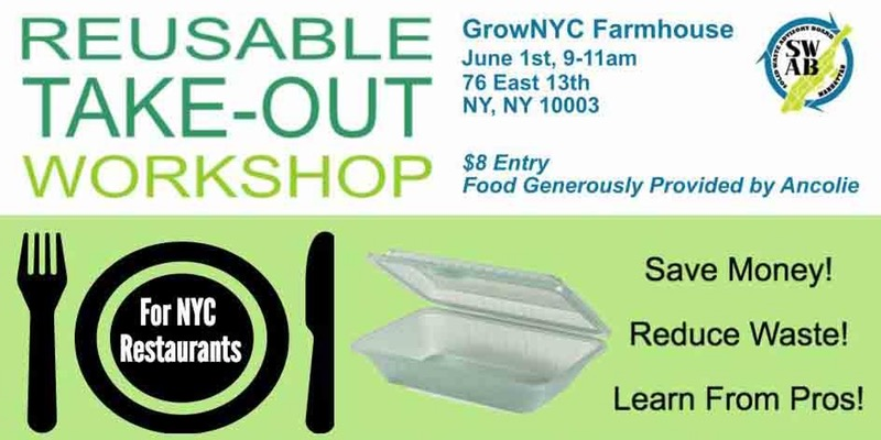 Reusable Take Out Container Workshop Manhattan SWAB