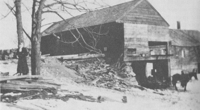 Page's & Hadley's mill from an early photograph. Credit:  Where the Winds Blow Free