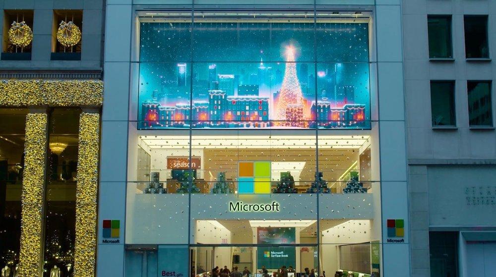 Retail holiday LED / Microsoft