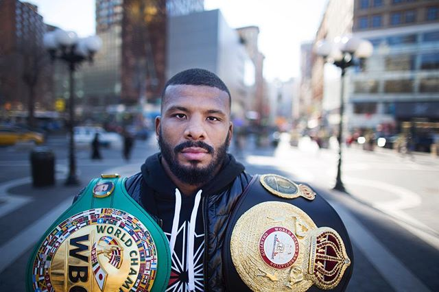@badoujack posin for a portrait in Union Square this morning. 🥊