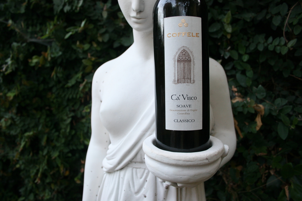 Soave is ancient and goes back to Roman times, like this statue we found in the backyard!