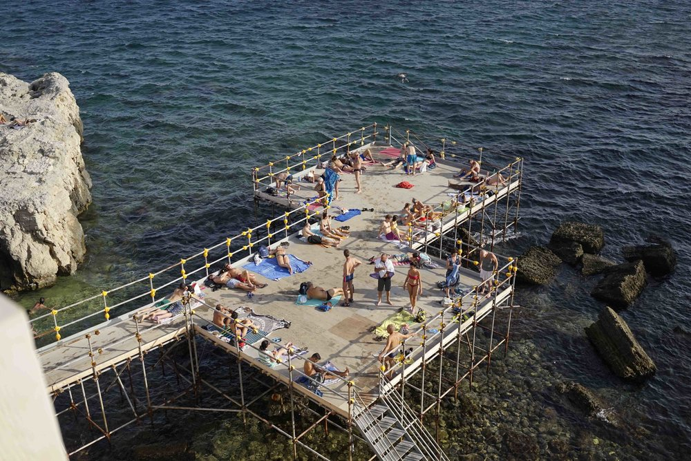 our platform for after lunch swims!