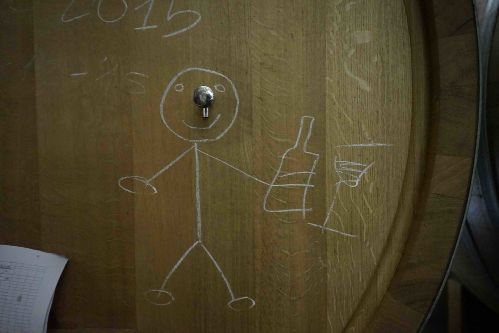 Barrel art at Occhipinti