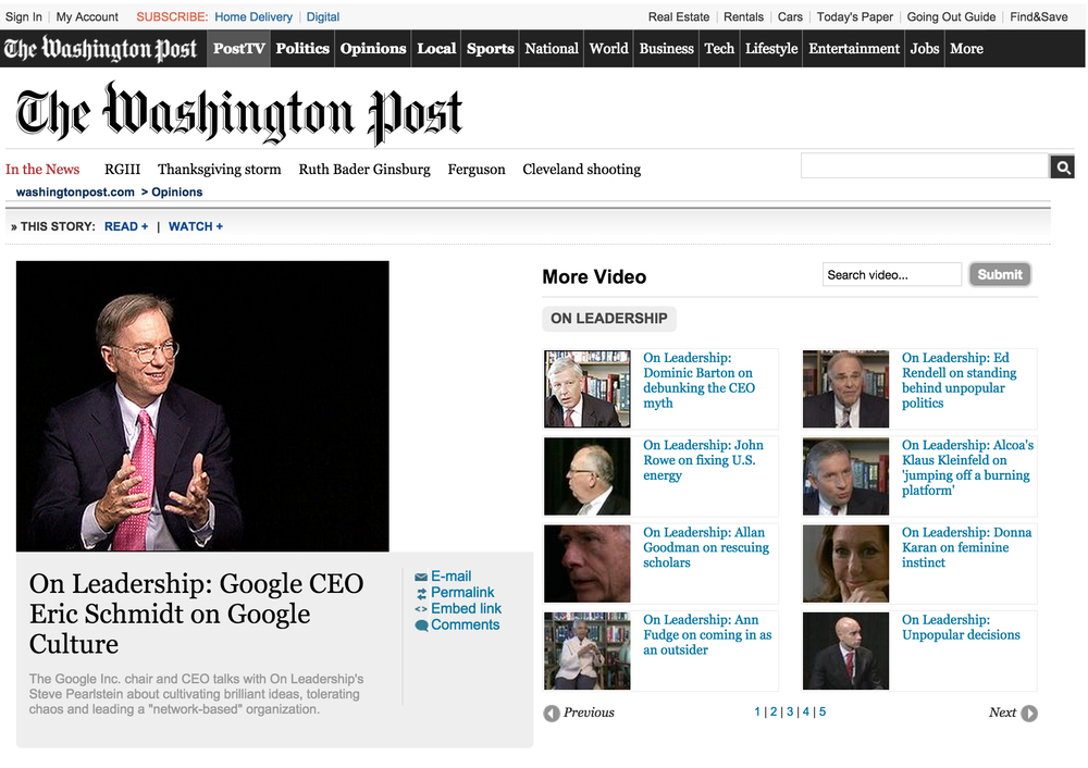 Click on image to go to video. Blueprint provided local crew production for the Washington Post & Google.