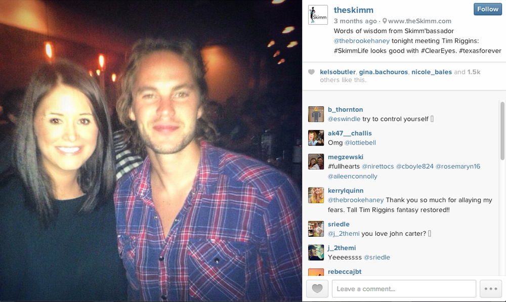 Skimmers love Tim Riggins. As do I.