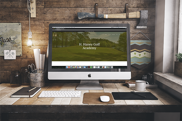 design + copy // H. Haney Golf Academy