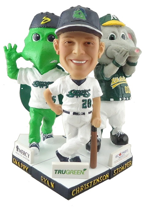 Beloit Snappers - 3pc 5in   Bobbleheads, Christenson, Stomper & Snappy.JPG