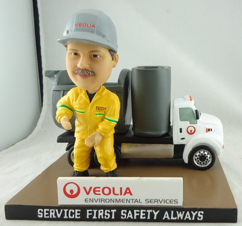 Veolia - Pen & Pencil Holder Desk Piece with 4in Bobblehead 108620.JPG