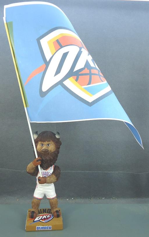 Oklahoma City Thunder -  Rumble with Flag 108824, 7in Bobblehead.JPG