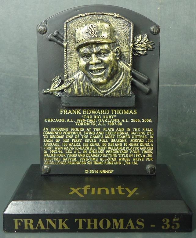 Chicago White Sox - Frank Thomas 110925, HOF Plaque.JPG