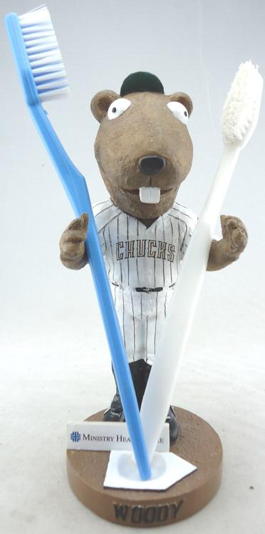 Wisconsin Woodchucks, Woody, Toothbrush Holder, 108691.JPG