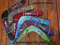 Australian returning,                      handmade children's                                boomerangs