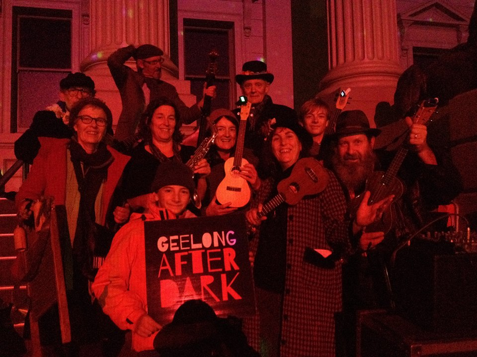 The Uke legends, Ukes D'Jour kicking it at Geelong After Dark 2015