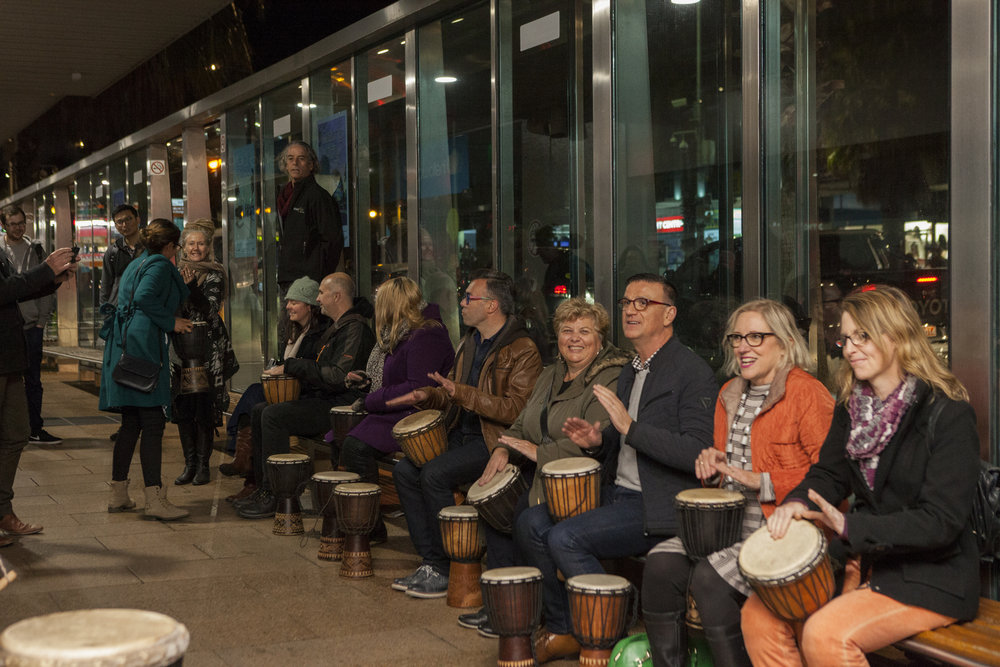 Geelong After Dark 2018 One Spirit African Drumming Photographer: Christina Francis