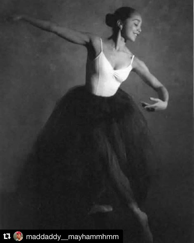 """#tbt to our star @maddaddy__mayhammhmm as a baby ballerina! Excerpted below are her words on her personal history of dance & identity. #dance #musical #queer #blackgirlmagic #Repost @maddaddy__mayhammhmm ・・・ """"There are inescapable binaried behaviors written into the score of ballet when trained classically. Women are expected to perform and master delicacy, demurity , softness, purity, and men the opposite, with no acknowledgement of those who don't fall into the binary. However, I did have a killer jump and my teacher would encourage me to jump at the slower tempo (bogus thing, men work with music that allows their jump more height while women are not expected to aim for a high jump) with the boys and challenge them to keep up with me- almost as if to say, 'don't let a girl beat ya!' I was always one of two black dancers or the only dancer of color in ballet class growing up, all throughout college, and even professionally here taking class in New York. The lack of visibility and diversity was and continues to be really discouraging.I couldn't see where I could fit into the big picture of ballet. I didn't hear about the history of black ballerinas like Raven Wilkinson or Carmen De Lavallade until graduating college. In high school, I read about Aesha Ash being asked to powder her skin white at NYCB to play a swan in corps de ballet. Suggestions that when i start my career, i could dance for either Alvin Ailey or Dance Theatre of Harlem felt very limiting and segregating even though those companies are undeniably top tier. The attitude felt like, """"if you're black, you can dance at these few places, otherwise it's going to be harder to be accepted."""" Ballet lineage was created and is generated through a white lens."""""""
