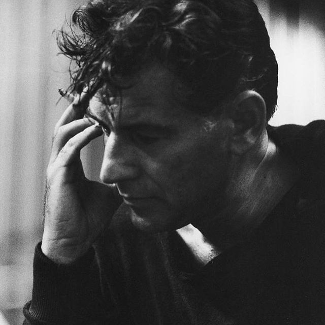 """One of our musical inspirations, Leonard Bernstein, was #bornonthisday! When writing and choreographing AND THE MOON, our shorthand for one section was """"the dance at the gym"""" #leonardbernstein #musicaltheatre #musical #composer #birthday #lgbtq #queerart #moviemusical #westsidestory #ohhappyday #ohhappywe"""