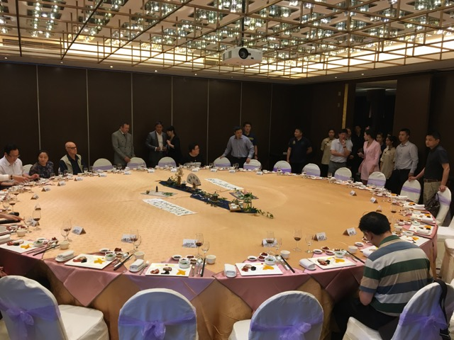 Probably the biggest round dining table I have ever seen.