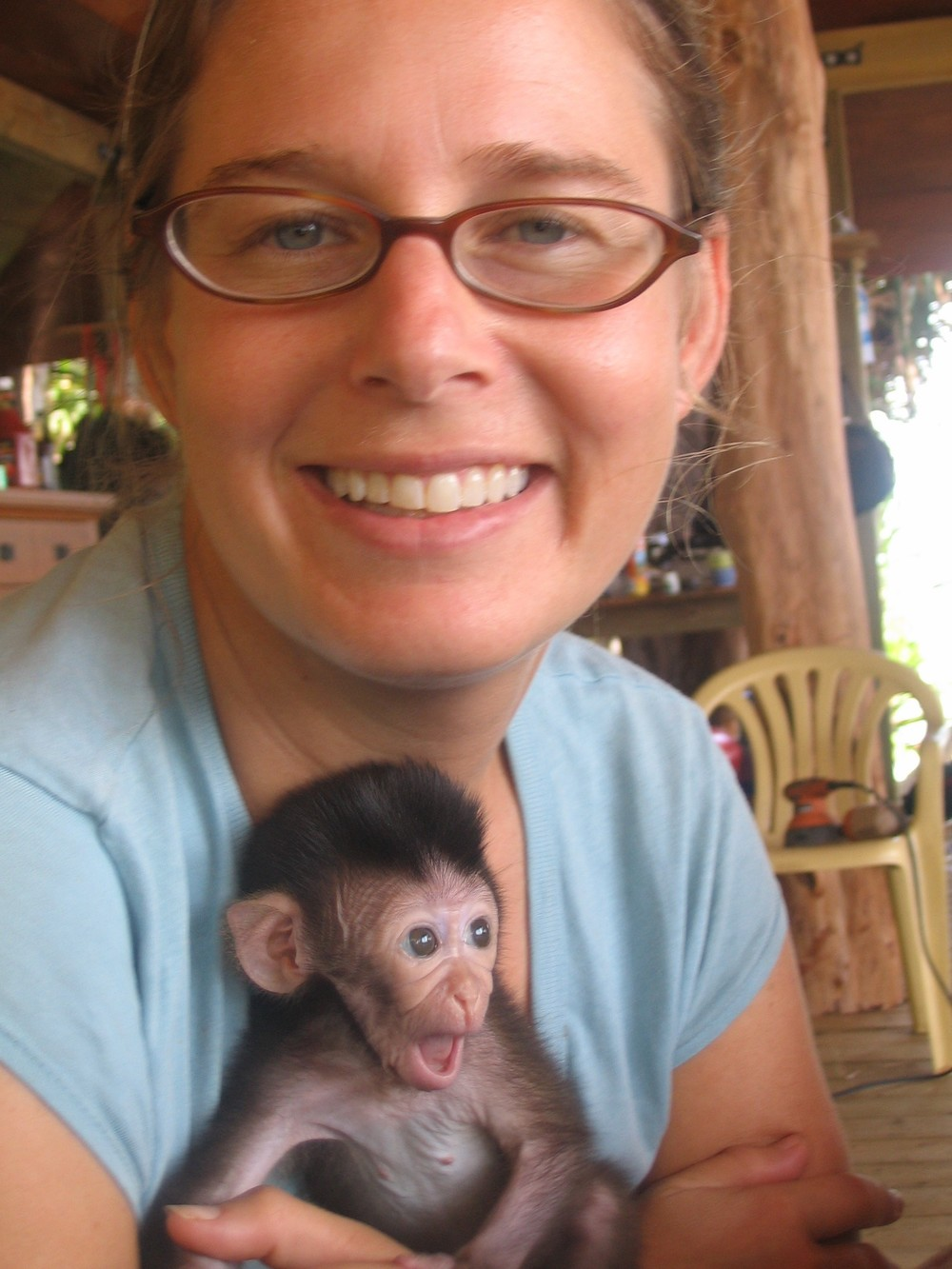 71. Sheshunoff - Monkey - With Sarah 1.JPG
