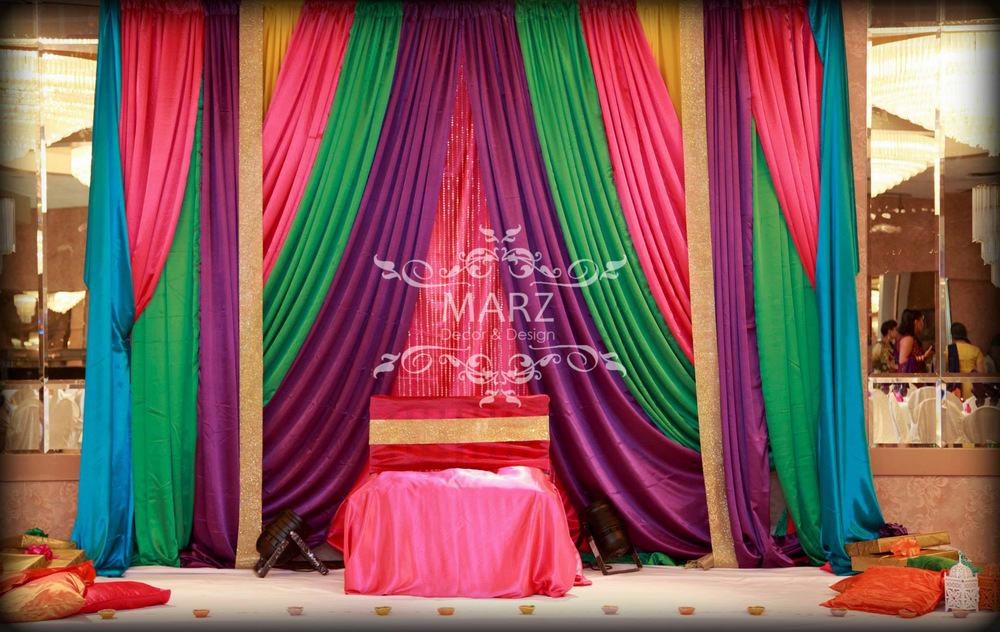 Mehndi Stage Backdrops : Mendhi backdrops marz photography