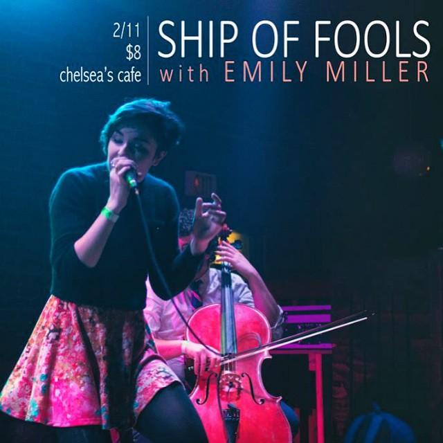 see you at the sidebar! #idigbr #bandsintown #shipoffools #emilymiller