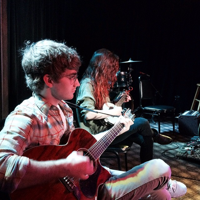 our drummer boy is gonna be strumming along with @emilykayemiller tonight! | chelsea's cafe, sidebar 7PM $8