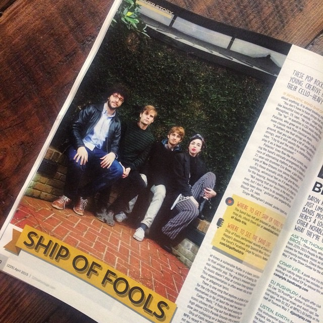 Check us out in @225batonrouge tomorrow! Thanks for the lovely article, guys. We're trying to get an album out to y'all real quick. Next on the list: Handle Myself single release + music video 🙌💃🎊🎈 #idigbr #localmusic #batonrouge #225br #magazine #music #shipoffools