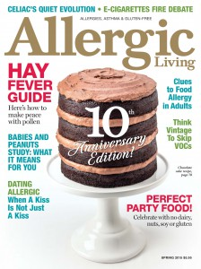 Allergic Living Magazine. A great source of information for anyone living with food or environmental allergies.