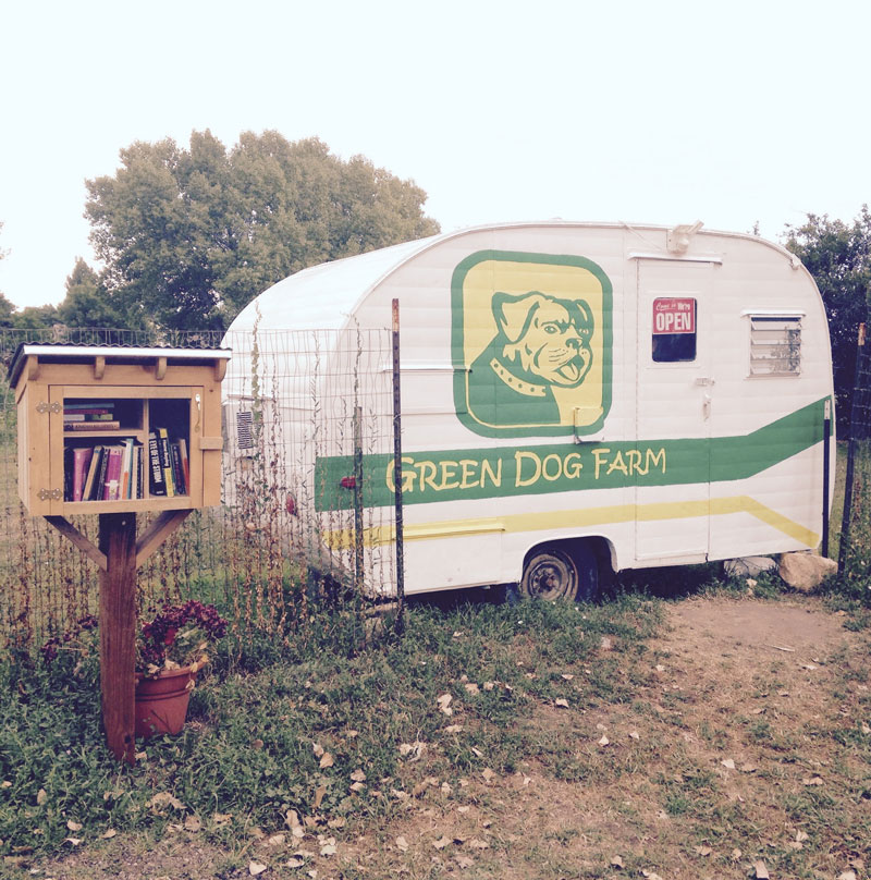 One of our local CSAs is a Self-Serve setup out of this cute little trailer. Fort Collins, Colorado, USA