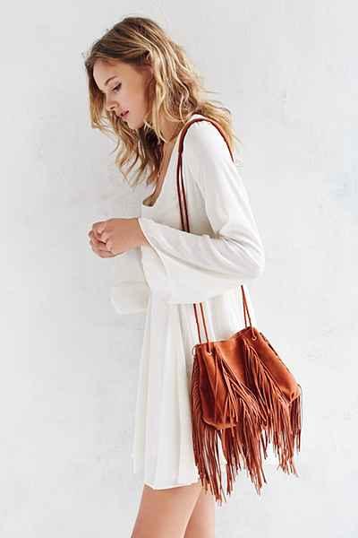 Ecote Fringe Bucket Bag  $69