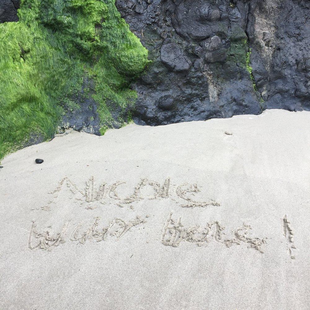 Nicole was here...