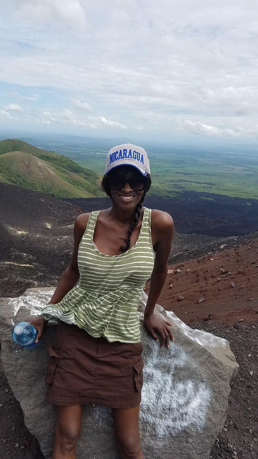 Taking a break (one of many) on Cerro Negro.
