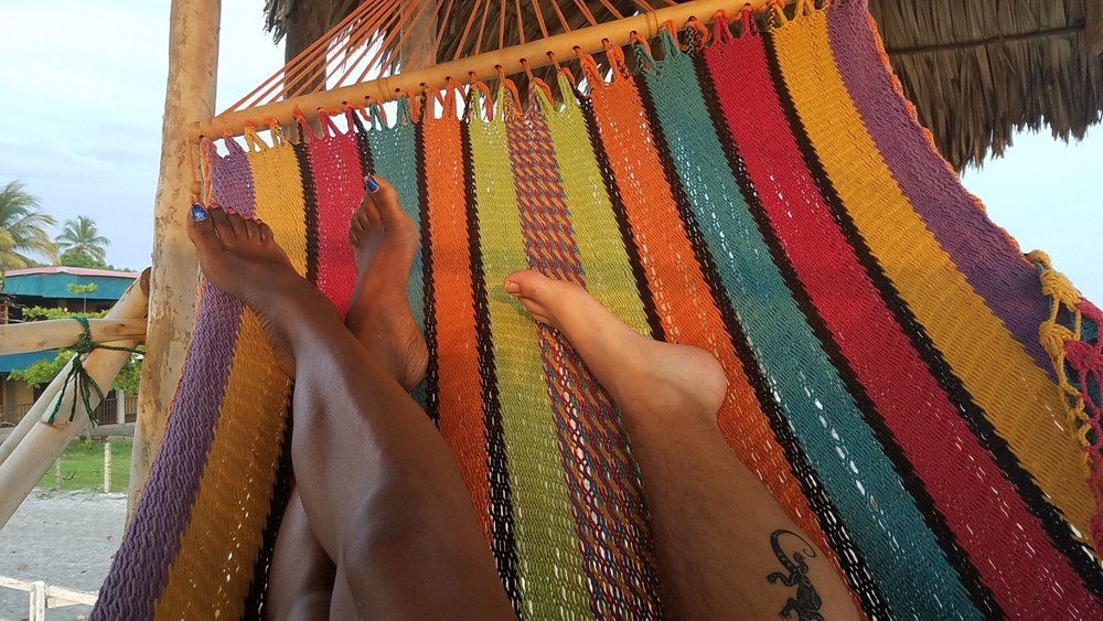 Whew! That was hard work, happy to be back in the hammock :-)