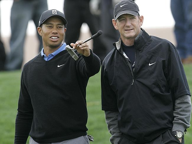 Hank Haney (right), who coached Tiger Woods, snapped up one of Mason's pieces for $10,000 in 2012Source:AP