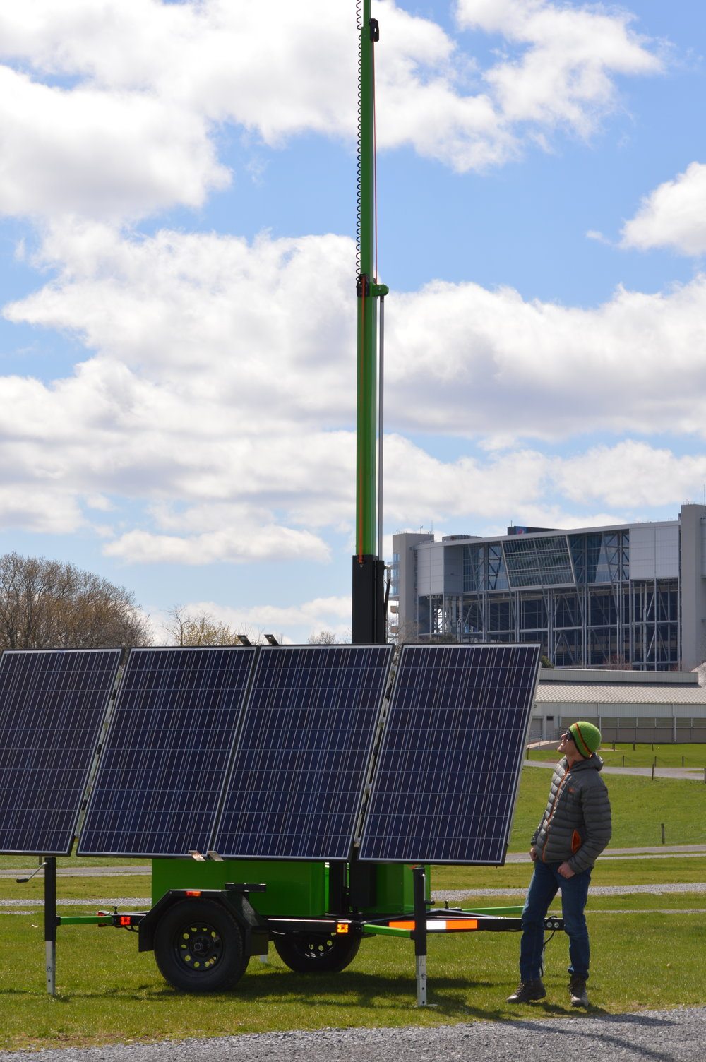 Dominight's Solar Hybrid LED Light Tower at Penn State University