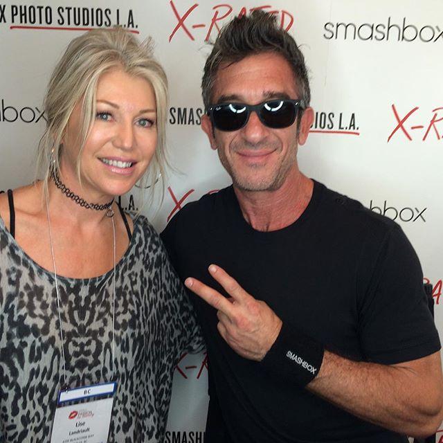 Smashbox founder - Davis Factor.  OMG I'm stars truck! Love Smashbox! ❤️❤️❤️😍 #Smashbox cosmetics