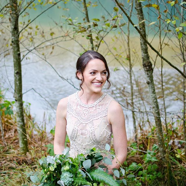 Our beautiful bride enjoying a gorgeous fall wedding at The cheakamus center.  This is a nature lover's paradise! 💗🍁🍂#squamish wedding #bridal makeup #squamish bridal makeup #fall wedding #makeup artist
