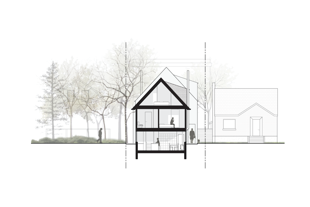 GROUND HOUSE TREE HOUSE / UNDER CONSTRUCTION 2014 / TWO RESIDENCES