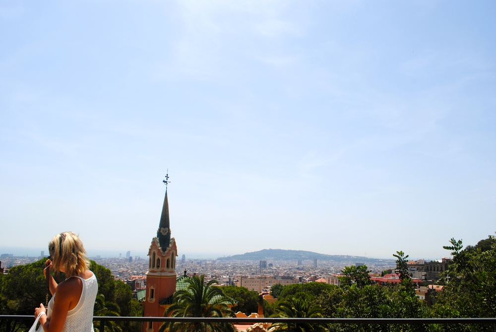View from the top of Parc Güell.