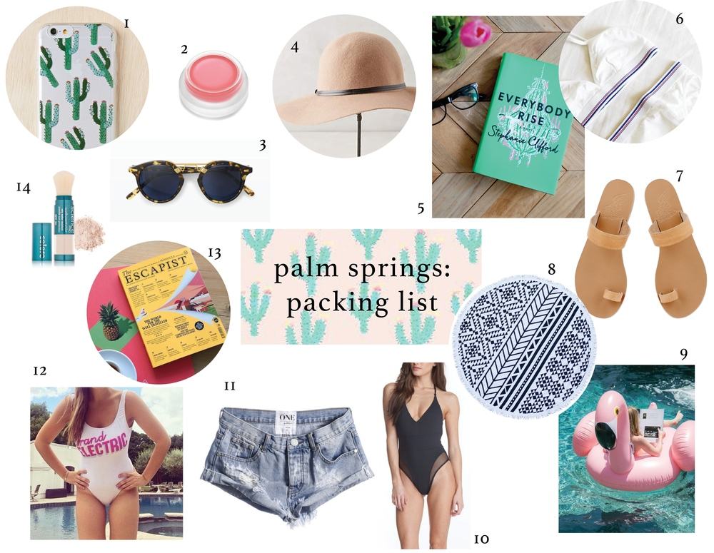 palm springs packing