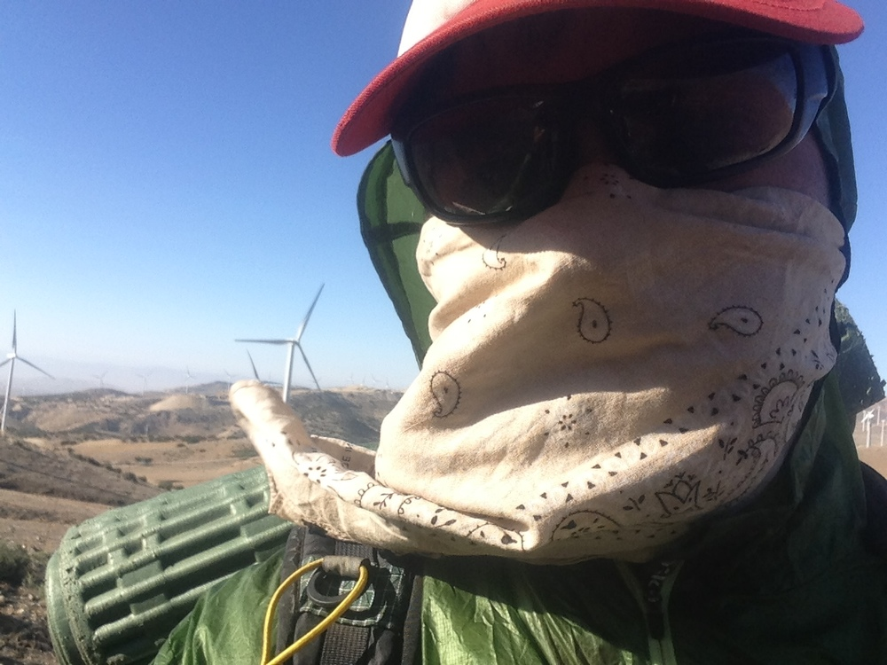 A mind numbing Wind Farm in the Mojave desert